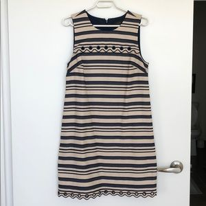 J. Crew Grommet striped dress